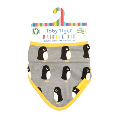 Toby Tiger penguin dribble bib