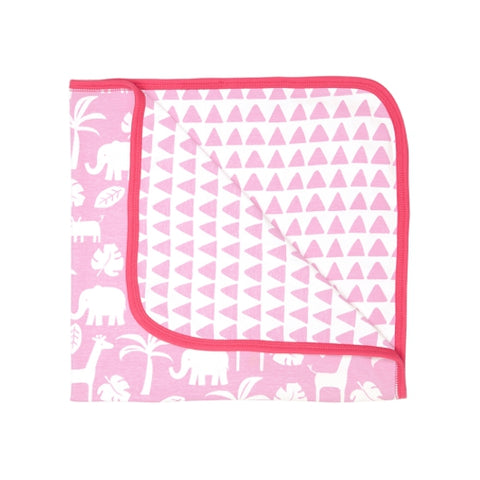 Toby Tiger pink jungle blanket
