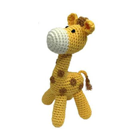 Cheengoo standing giraffe crocheted rattle