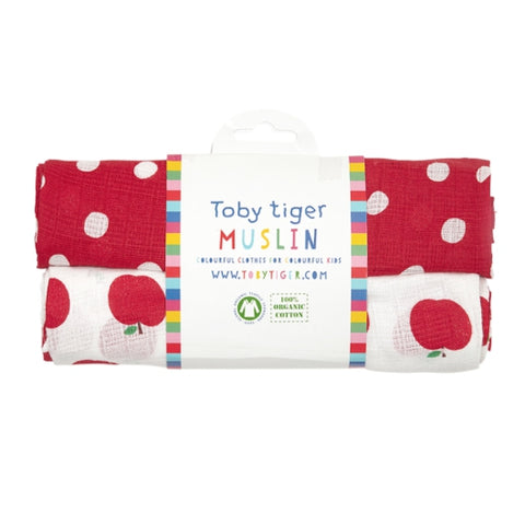 Toby Tiger apple muslin pack