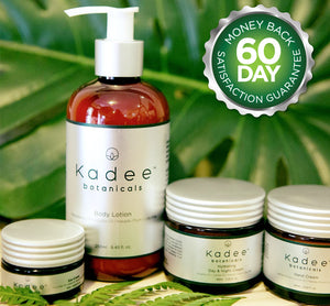 Kadee Botanicals offers a 60 day money back satisfaction guarantee