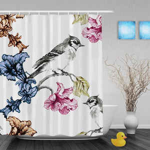 Spring Song Birds Shower Curtain