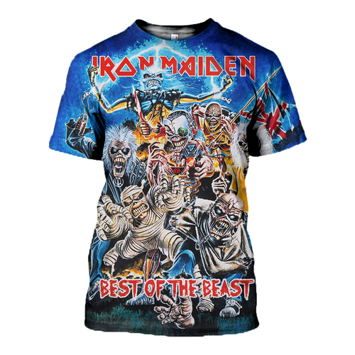 3D printed Iron Maiden - Best of the Beast T-shirt Hoodie