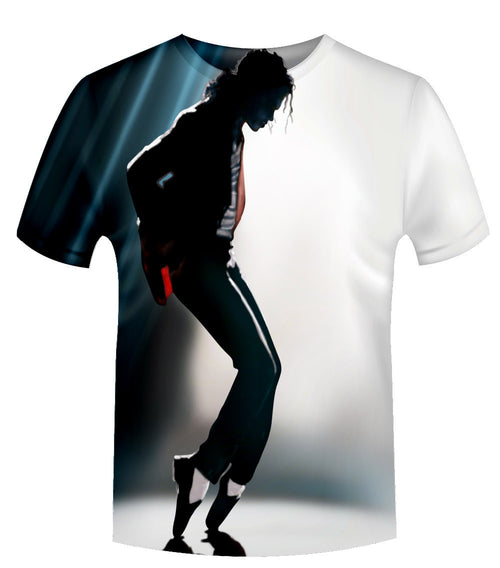 Michael Jackson 3D Printed Unisex short-sleeve T-Shirt