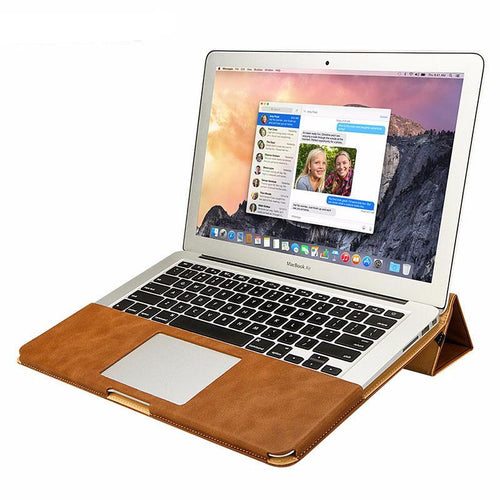 Leather Stand Case For MacBook