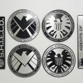 Marvel Agents of Shield Badge Metal Curved Waterproof Unfaded Stickers