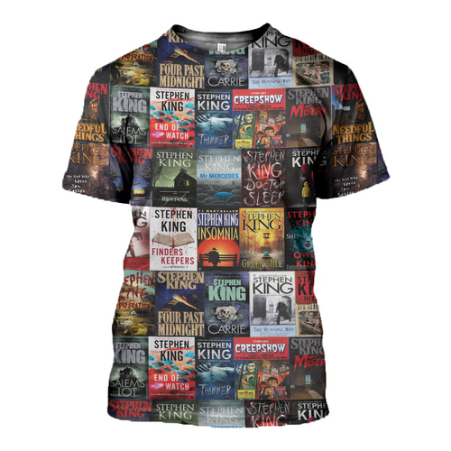 3D printed Stephen King Books T-shirt Hoodie