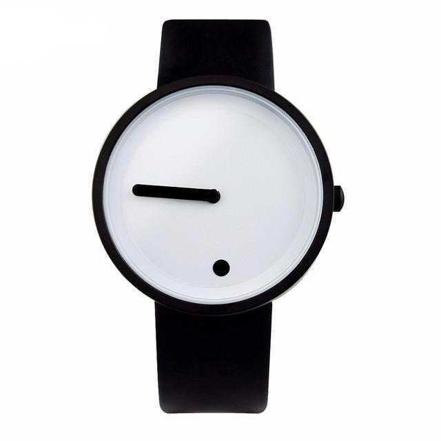 Minimalist Style Wristwatch creative design Dot and Line 2017