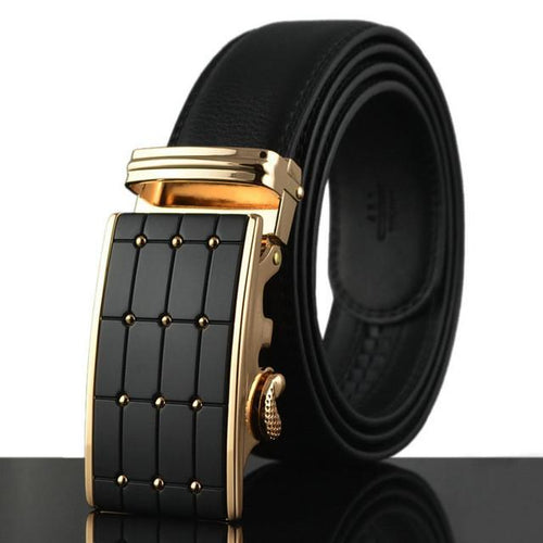 Smooth Automatic Buckle Belts For Men B004