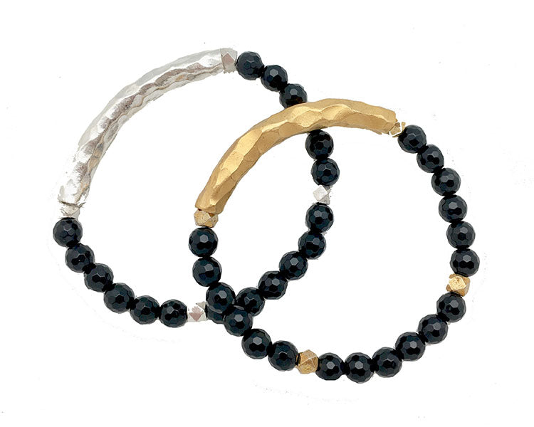 Shiny Onyx Bar bracelet