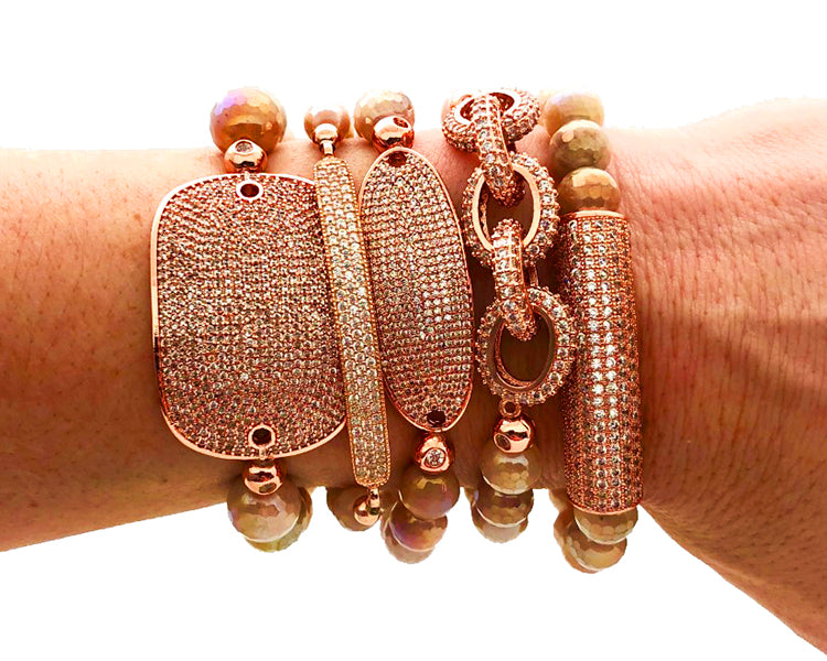 Rose Gold CZ Bling bracelets