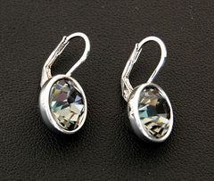 Black Diamond Swarovski Silver Ear drop