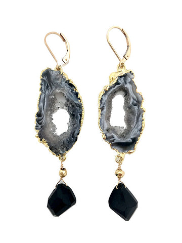 Rocky Geode Earrings