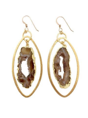 Sahara Geode Hoop Earrings