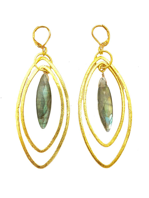 Labradorite Primrose Earrings