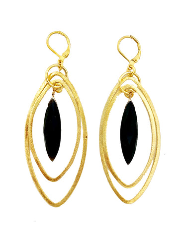 Onyx Primrose Earrings
