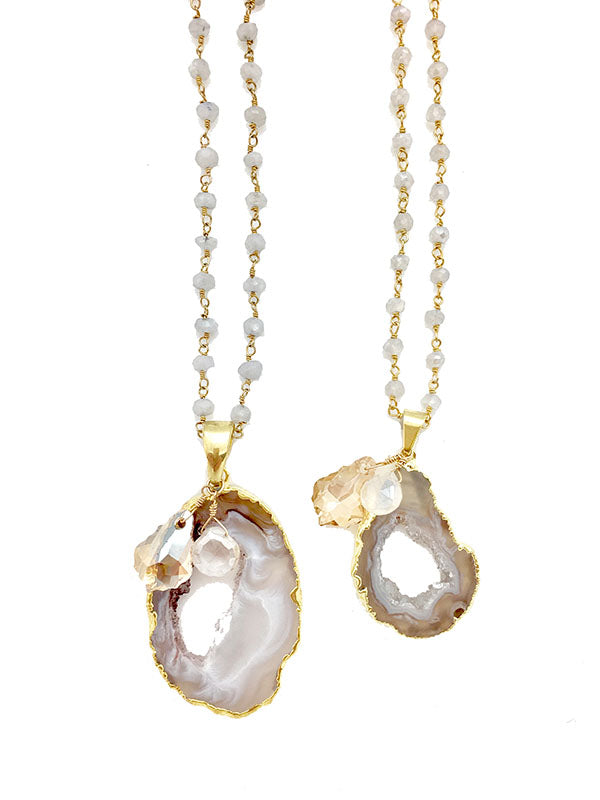 Moondrop Geode Necklace
