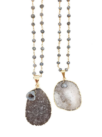 Labradorite Druzy Necklace