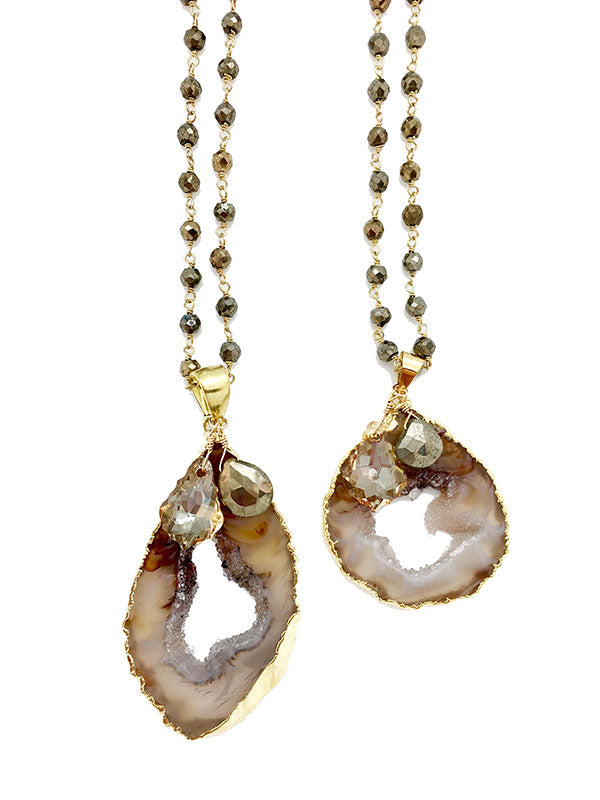 Harvest Geode Necklace