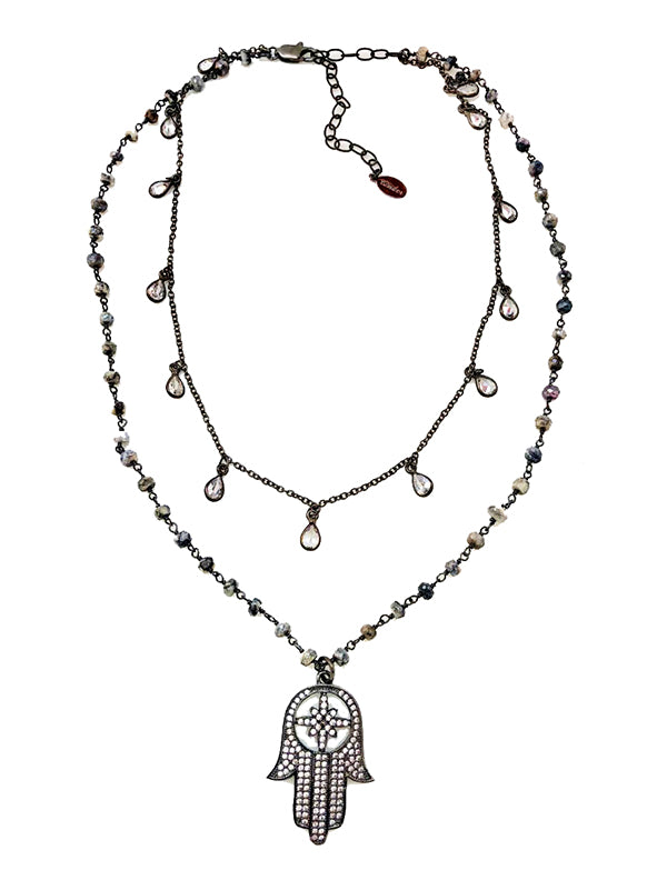 Eye of the Hamsa Necklace