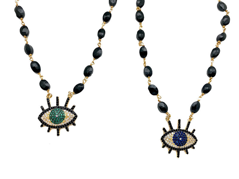 Green Eye & Blue Eye Necklace