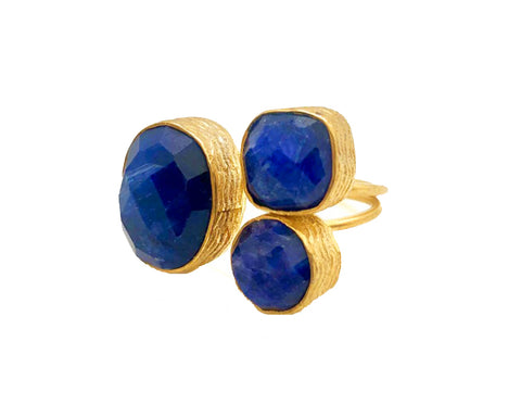 TRIPLE AZUL RING