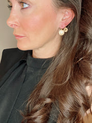 Champagne Swarovski Gold Ear drop