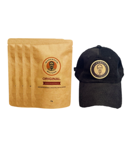 75g Original Biltong (4 Bags) with Corduroy Black Hat Bundle