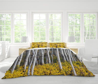 Autumn Aspens Duvet Cover Set