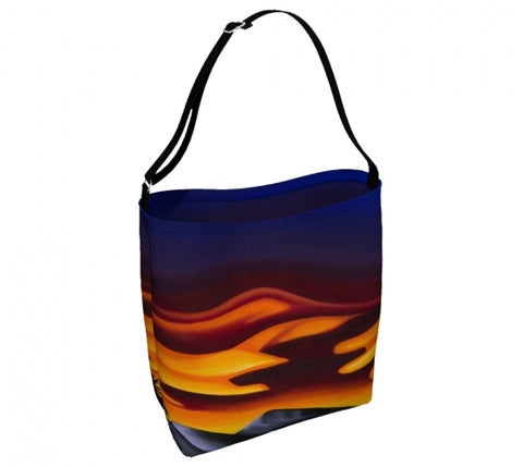 Raspberry Ripple Sunrise day tote bag by Mountain Moves