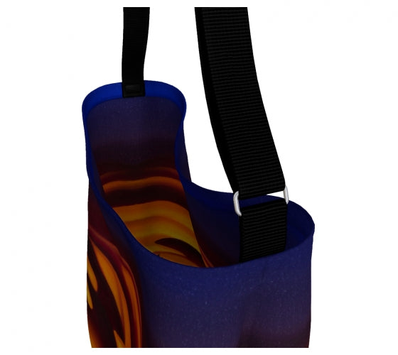 Raspberry Ripple Sunrise day tote bag by Mountain Moves - inside