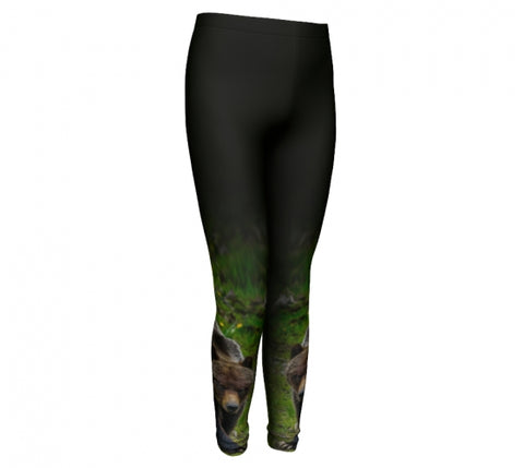 Bear Necessities kids leggings by Mountain Moves - front