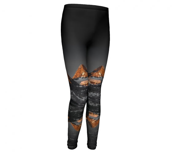 Morning Glow kids leggings by Mountain Moves - front