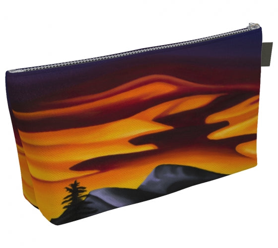Raspberry Ripple Sunrise makeup bag by Mountain Moves