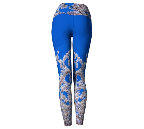 Beneath the Blossoms leggings by Mountain Moves - back