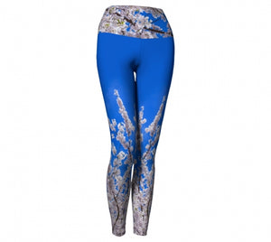 Beneath the Blossoms leggings by Mountain Moves - front