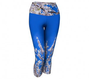 Beneath the Blossoms capris by Mountain Moves - front