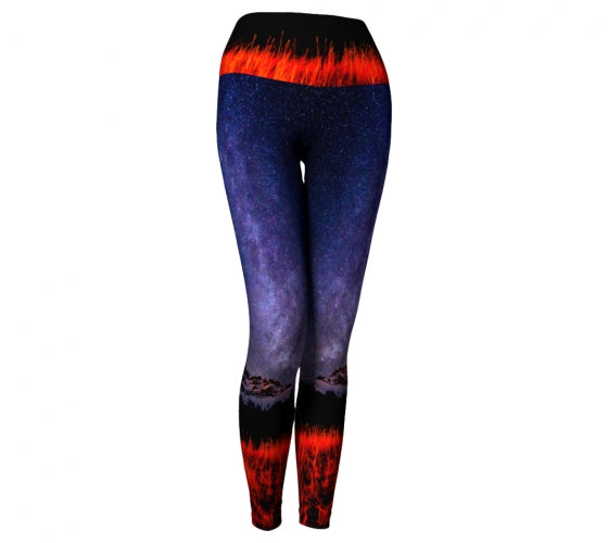 Cascading Stars leggings by Mountain Moves - front