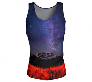 Cascading Stars fitted tank top by Mountain Moves - front