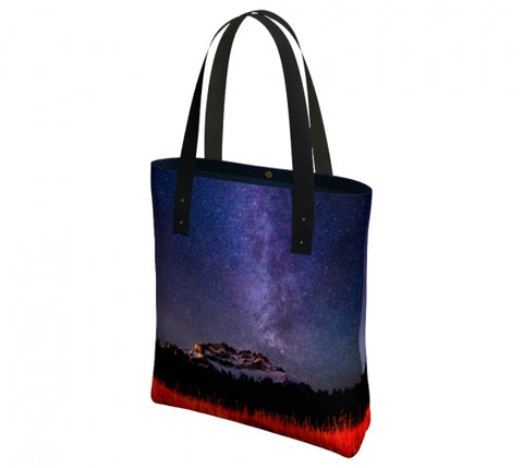 Cascading Stars urban tote bag by Mountain Moves