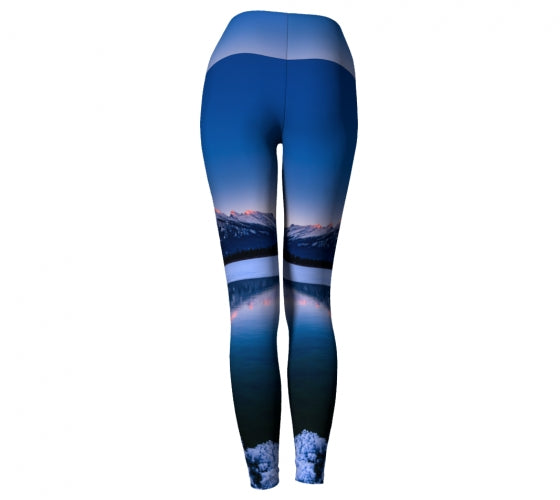 Frosty Rundle Reflections leggings by Mountain Moves - back