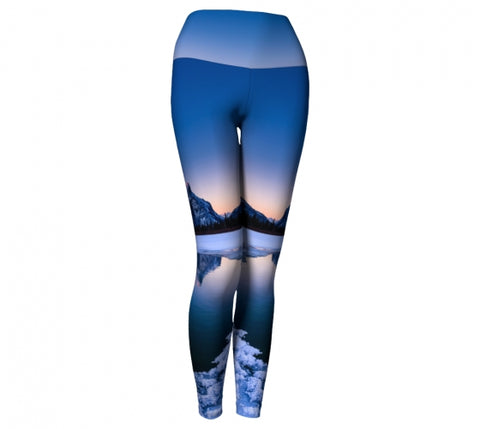 Frosty Rundle Reflections leggings by Mountain Moves - front