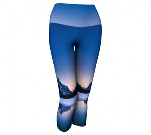 Frosty Rundle Reflections capris by Mountain Moves - front