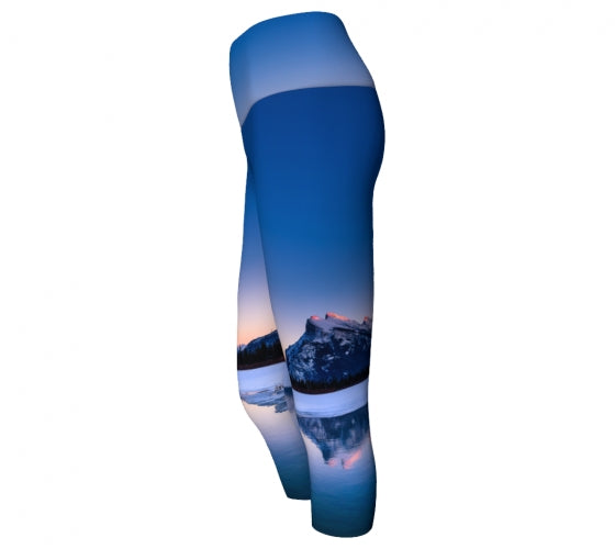 Frosty Rundle Reflections capris by Mountain Moves - side