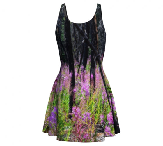 Find Your Fireweed flare dress by Mountain Moves - back