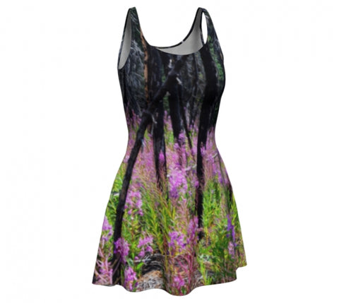 Find Your Fireweed flare dress by Mountain Moves - front