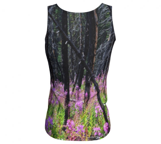 Find Your Fireweed fitted tank top by Mountain Moves - back
