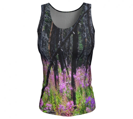 Find Your Fireweed fitted tank top by Mountain Moves - front