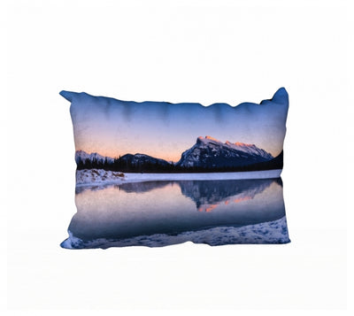 Frosty Rundle Reflections pillow by Mountain Moves - front