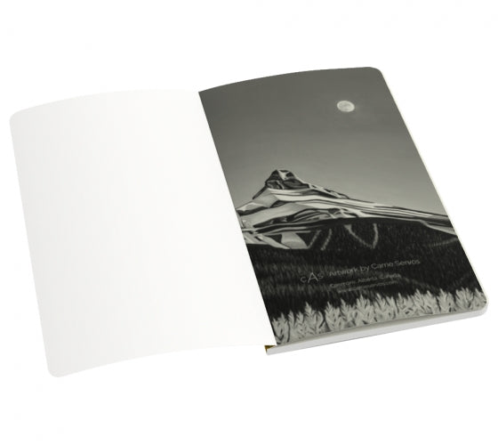 Glowing Sisters notebook by Mountain Moves - inside front page